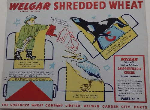 1955 Shredded Wheat Chipperfield's Circus No 2