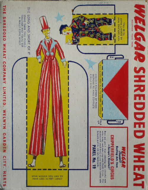 1955 Shredded Wheat Chipperfields Circus No 19