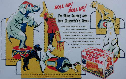 1955 Shredded Wheat Chipperfields Circus