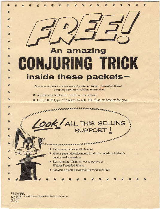 1959 Shredded Wheat Conjuring Trick