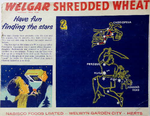 1950s Shredded Wheat Finding the Stars No 2