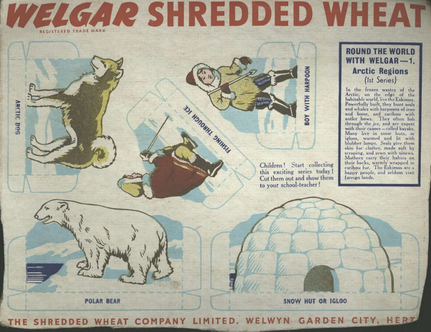 1950s Shredded Wheat Round the World with Welgar No 1