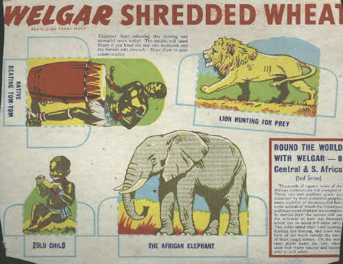 1950s Shredded Wheat round the World with Welgar No 8