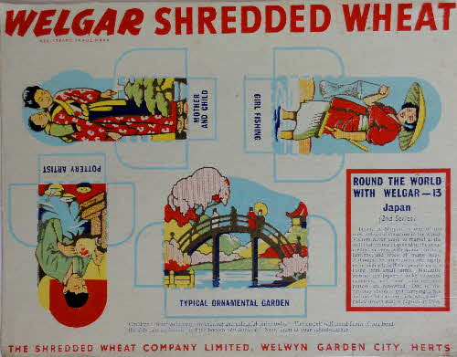 1950s Shredded Wheat round the World with Welgar series 2 No 13
