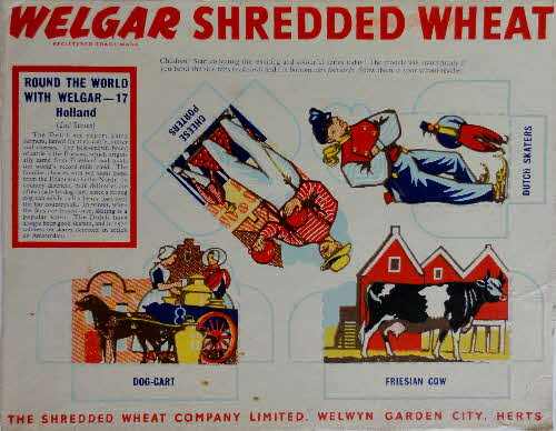 1950s Shredded Wheat round the World with Welgar series 2 No 17