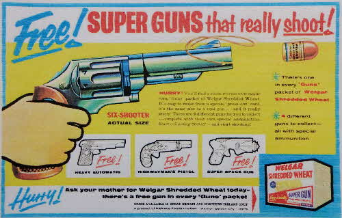 1958 Shredded Wheat Super Guns1
