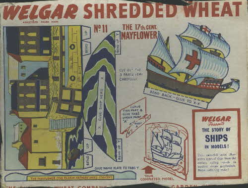 1950s Shredded Wheat The Story of Ships No 11