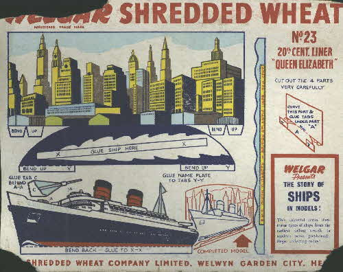 1950s Shredded Wheat The Story of Ships No 23