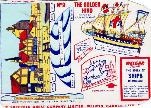 1955 Shredded Wheat The Story of Ships 9