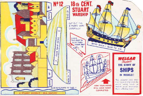 1955 Shredded Wheat The Story of Ships No 12