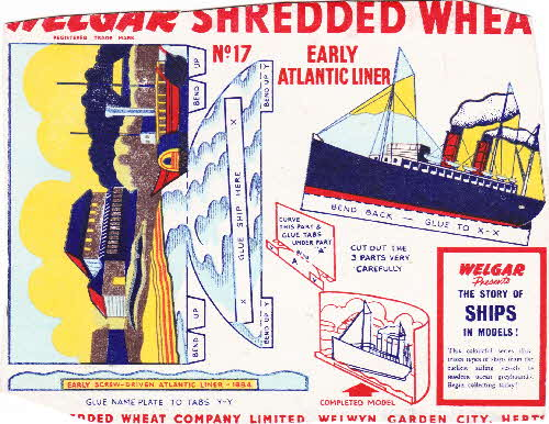 1955 Shredded Wheat The Story of Ships No 17