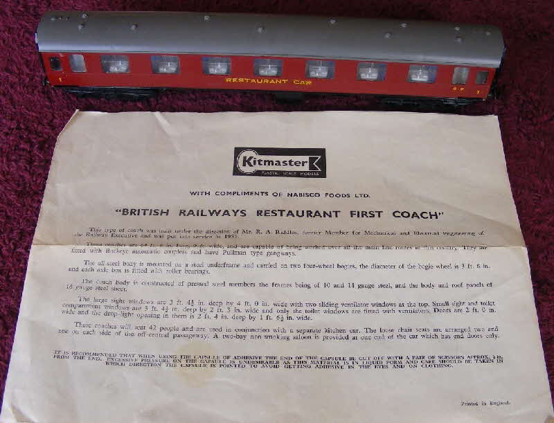 1960s Shredded Wheat British Railways Restaurant Coach