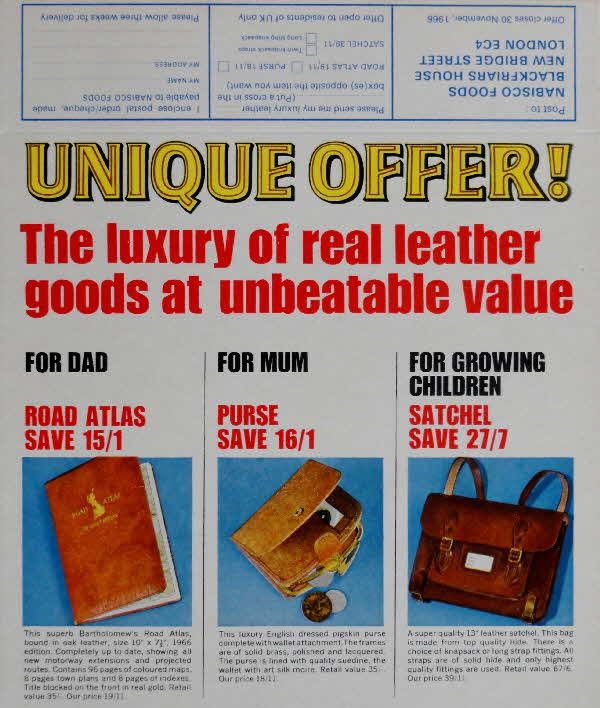 1960s Shredded Wheat Luxury Leather Goods