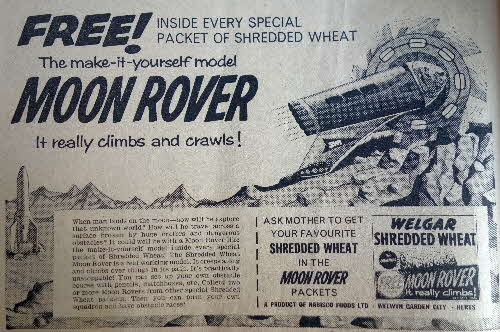 1960 Shredded Wheat Moon Rover1
