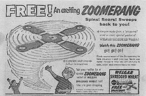 1960 Shredded Wheat Zoomerang