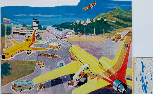 1973 Shredded Wheat Airport Scene Stickers (1)