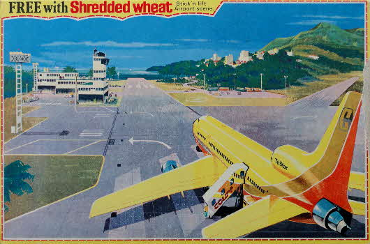 1973 Shredded Wheat Airport stickers pkt (2)