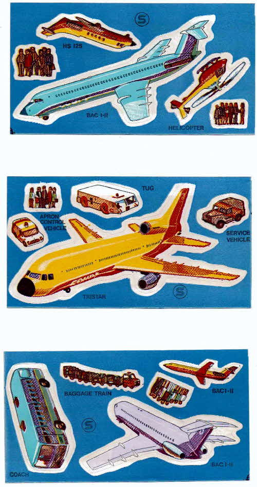 1973 Shredded Wheat Airport stickers
