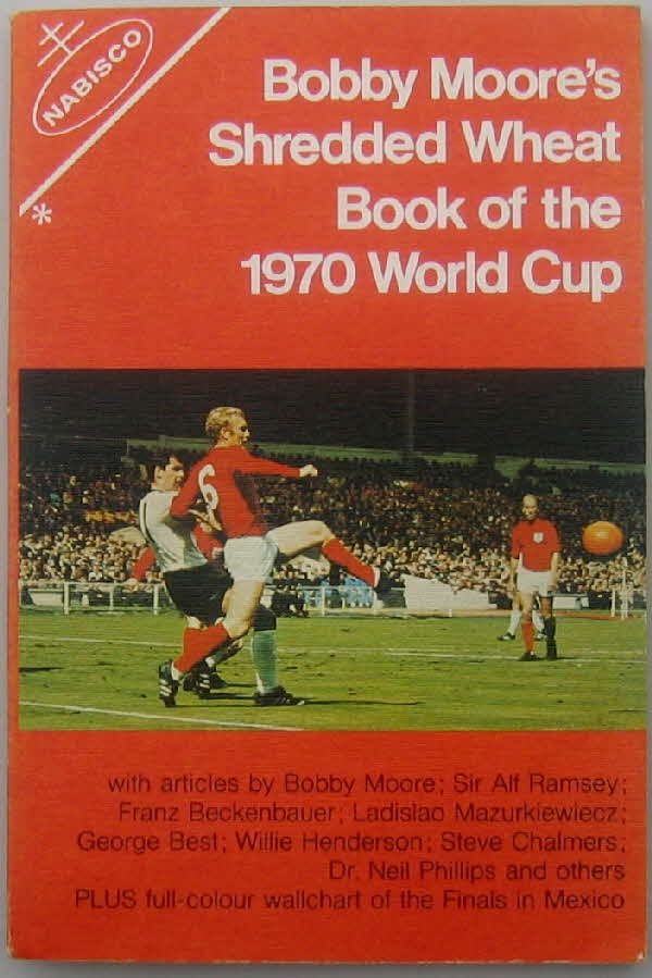 1970 Shredded Wheat Bobby Moore's World Cup book