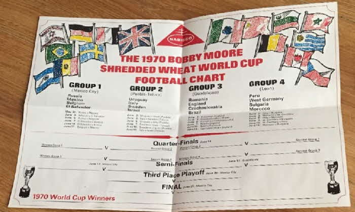 1970 Shredded Wheat Bobby Moores World Cup Book (1)