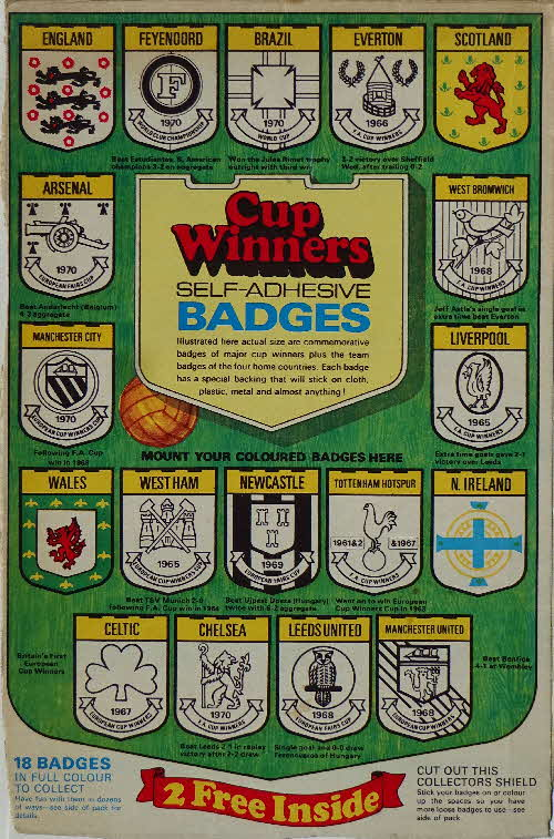 1971 Shredded Wheat Cup Winners Badges (2)
