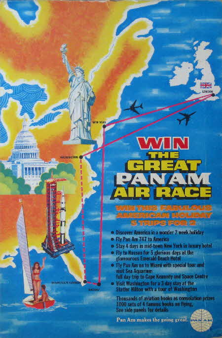 1970 Shredded Wheat Pan Am Air Race and Airplane cards