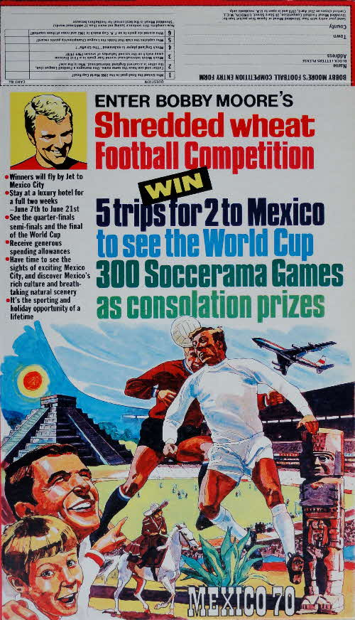 1970 Shredded Wheat Football Cards & Competition
