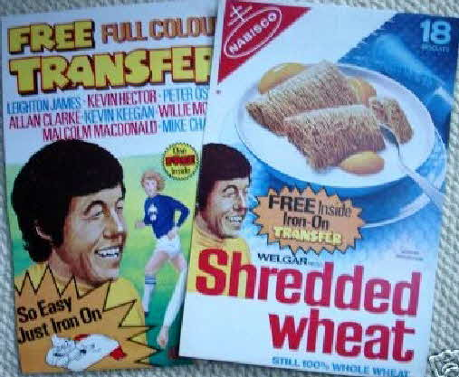1970s Shredded Wheat Football T Shirt transfers (betr)