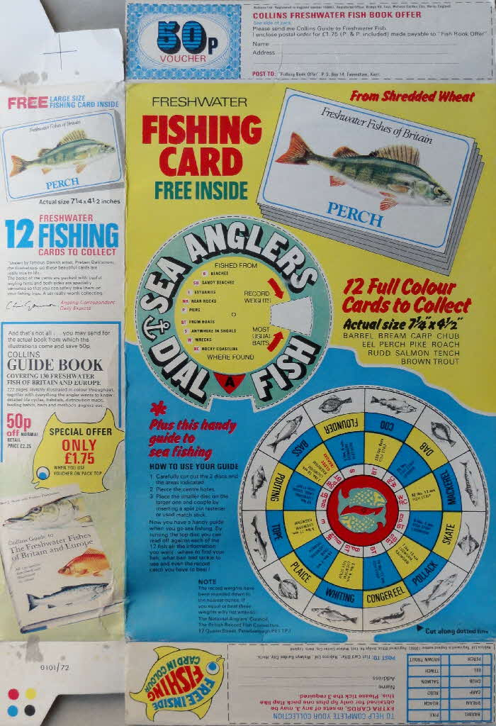 1972 Shredded Wheat Freshwater Fish Cards (3)