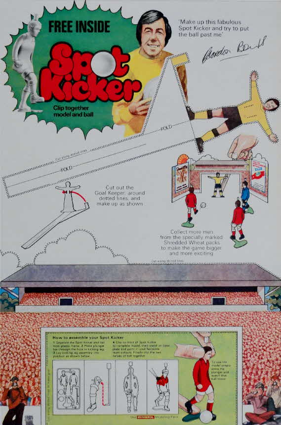 1974 Shredded Wheat Spot Kicker Footballer  & Soccer Watch (1)