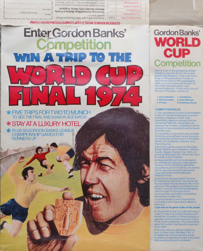 1973 Shredded Wheat World Cup Final Seats 1974 (2)