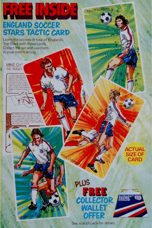 1975 Shredded Wheat England Soccer Stars Tactic Card & Wallet (1)