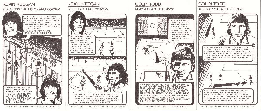 1976 Shredded Wheat Englands Soccer Stars Tactic Card back (1)