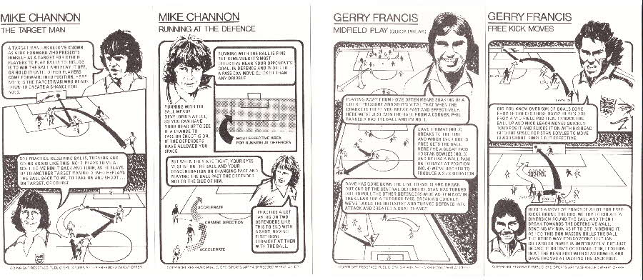 1976 Shredded Wheat Englands Soccer Stars Tactic Card back (2)