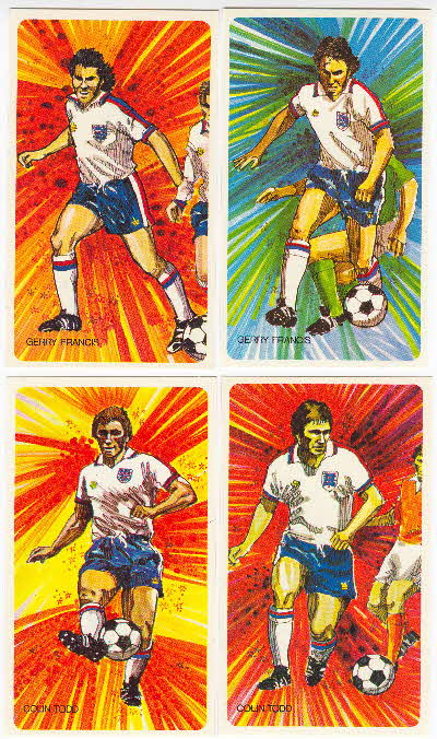 1976 Shredded Wheat Englands Soccer Stars Tactic Cards 2