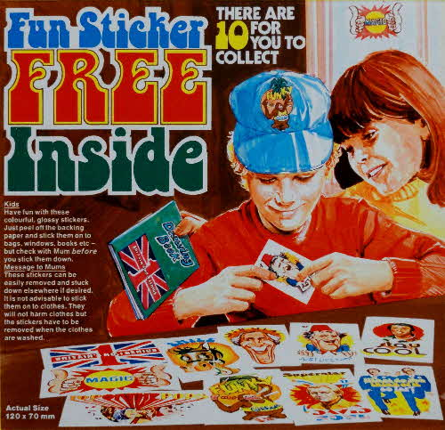 1977 Shredded Wheat Fun Stickers
