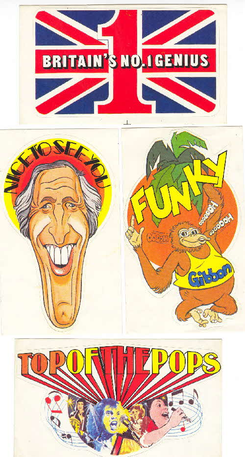 1978 Shredded Wheat Fun Stickers