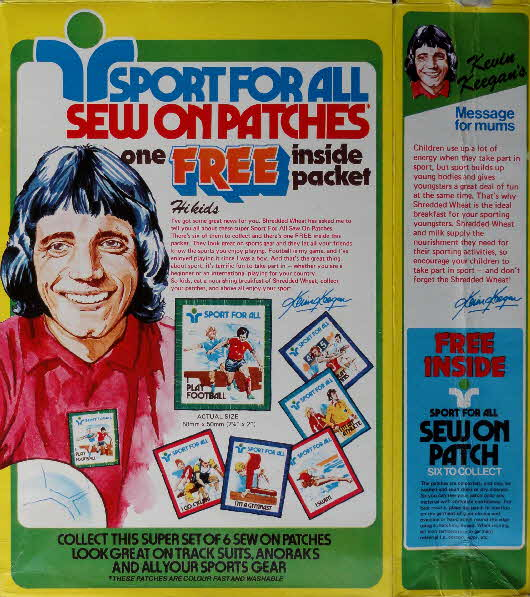 1976 Shredded Wheat Sports for All silks pkt (2)