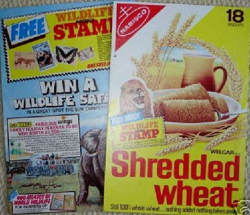 1978 Shredded Wheat Wildlife stamps (betr)