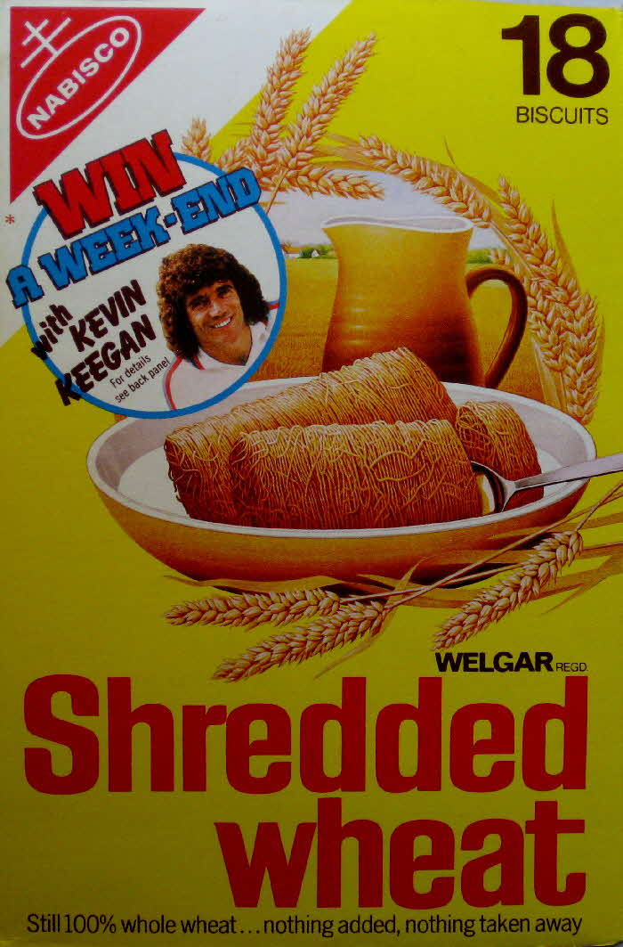 1970s Shredded Wheat Win a Weekend with Kevin Keegan
