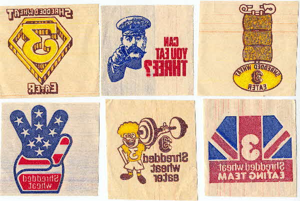 1981 Shredded Wheat Iron on transfers