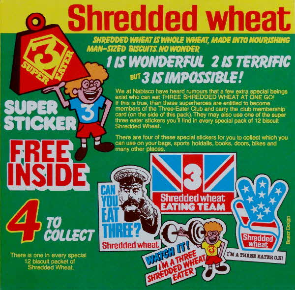 1981 Shredded Wheat Super Sticker & Club badge (1)