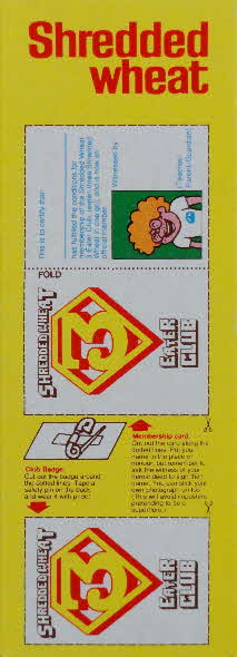 1981 Shredded Wheat Super Sticker & Club badge (2)