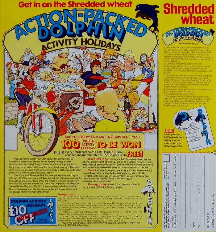 1983 Shredded Wheat Dolphin Holiday Competition