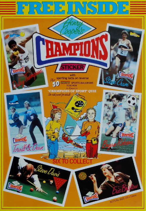 1984 Shredded Wheat Henry Cooper Champions Sticker & Competition