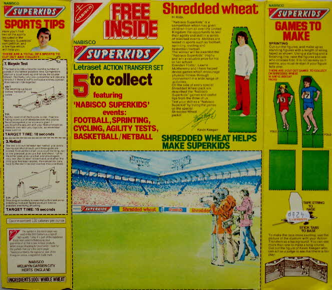 1981 Shredded Wheat Superkids Transfers (1a)