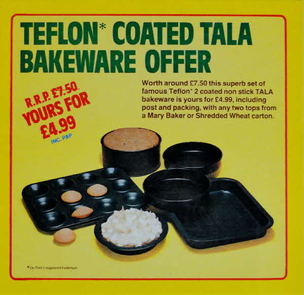 1980 Shredded Wheat Teflon Bakeware