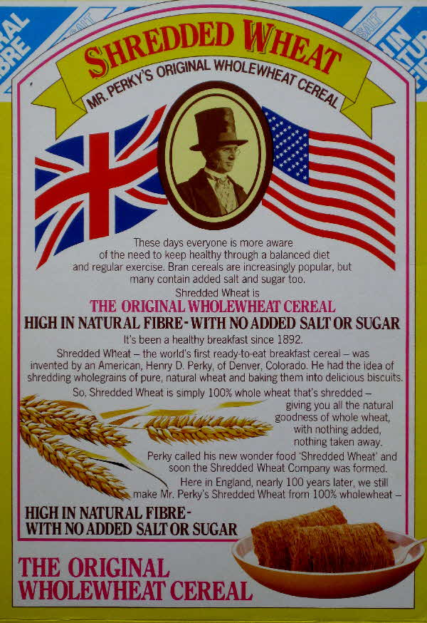 1988 SHredded Wheat Mr Perkys cereal