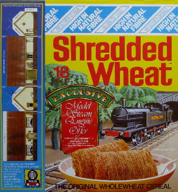 1989 Shredded Wheat  Steam train & Coaches front