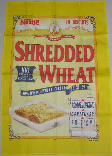 1992 Shredded Wheat 100 Years Centenary T Towel